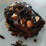part de brownie au chocolat