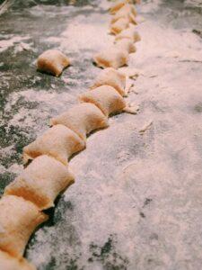 gnocchis en tronçons
